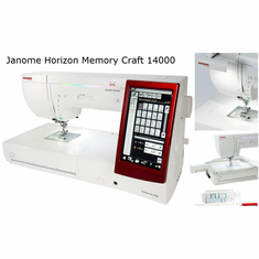 Janome Horizon Memory Craft 14000 Sewing ~ Quilting ~ Embroidery Machine  <p>60 Months Free Financing*</p> <p>  Sewing, Quiling, Digitizing & Embroidery Machine Package</P>