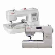 Janome New Home DC1018 Sewing Machine And MC200E Embroidery Machine Bundle