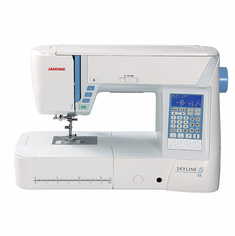 JANOME SKYLINE S5 SPECIAL PRICINGl! - ALSO INCLUDES A FREE START UP SEWING KIT AND BONUS FEET -  Call 800-522-8938
