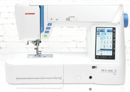 Janome's First Skyline Machine to Include Both Sewing and Embroidery!