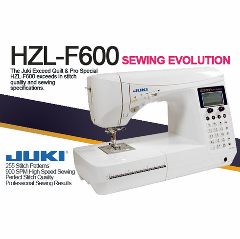 Juki HZL-F600 Full Sized Computer Sewing and Quilting Machine  <h2>*INCLUDES FREE EXTENDED WARRANTY* </h2>
