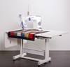 Juki TL-2200 QVP Quilt Virtuoso Pro Long Arm 18 inch x 10 inch Quilting Machine Sit Down Package w/Sit Down Quilting Table