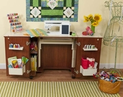 """Kangaroo Kabinets """"Bandicoot"""" Sewing Cabinet (Teak K8205) <br><b><i><font color=red>Includes a Free Sewing Chair! </br></b></i></font color=red>"""