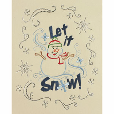 Let it Snowman -  Embroidery and Crystal Combo Pack #REXM0006