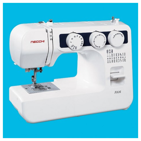 Necchi FA16  Light Weight Mechanical  -16 Stitch Sewing Machine <p><b><i><font color=RED>Necchi SALE GOING ON NOW!</font></b></i></p> <B>LOWEST PRICE GUARANTEE 800-522-8938!</B>