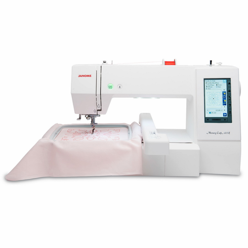 NEW! Janome Memory Craft 400E Embroidery Machine PLUS 0% FINANCING* ! - <p> INCLUDES A FREE START UP EMBROIDERY KIT AND BONUS HOOP </p>