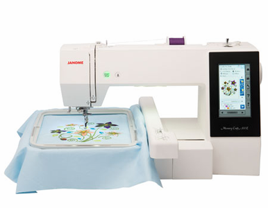 NEW Janome Memory Craft 500E  - The Next Great Embroidery-Only Machine<p><b><i><font color=red><i> CALL NOW 800-522-8938 FOR OUR INTRODUCTORY PRICE SPECIAL- LOWEST PRICE GUARANTEE!</font></b></i></p>