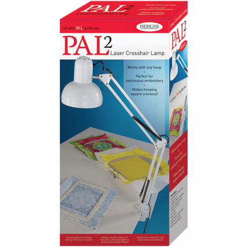"NEW! PAL2 - Perfect Alignment Laser #2 - Laser Crosshair Lamp <p> Perfect Placement Embroidery Machine Hooping- Laser 2 supports up to 8"" x 12"" hooped projects</P>"