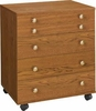 Perfexion PXD 150/151 Oak or White Rolling Storage Chest