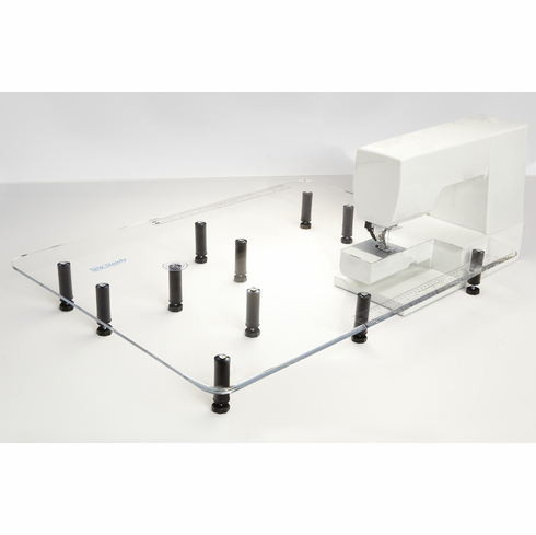 """Sew Steady Clear Acrylic Portable  - Extension Table for Free-arm Sewing Machines. -""""Giant""""  24"""" x 32"""" Table"""