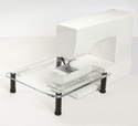 """Sew Steady Clear Acrylic Portable - Extension Table for Free-arm Sewing Machines.     - """"Junior"""" 11-1/2"""" X 15"""" table"""