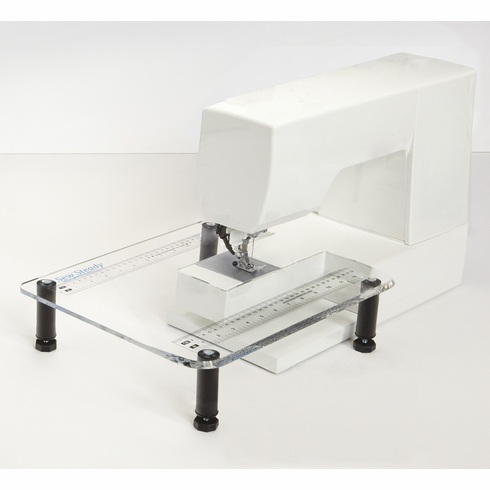 "Sew Steady Clear Acrylic Portable - Extension Table for Free-arm Sewing Machines.     - ""Junior"" 11-1/2"" X 15"" table"