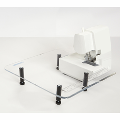 Sew Steady Clear Acrylic Portable SERGER Table - 18in x 18in