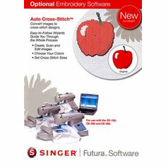 Singer Futura Auto Cross Stitch Software for the Singer CE-100 and CE-200