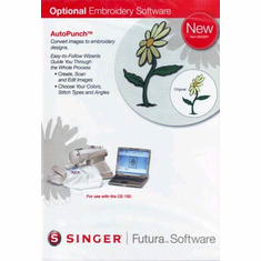Singer Futura CE150 AutoPunch Embroidery Editing Software for  Embroidery Machines