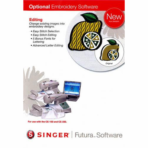 Singer Futura Editing Embroidery Software for the Singer CE-150, CE-250 and CE-350