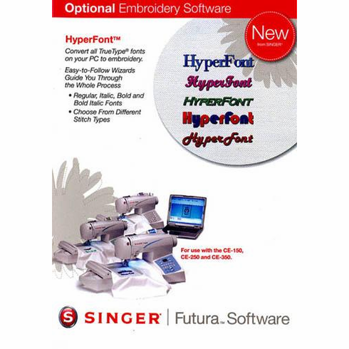 Singer HyperFont Software for Futura CE-150, CE-250 and CE-350