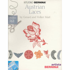 Studio Bernina Artista Austrian Laces by Gerard and Volker Matt ~ Embroidery Card  #761