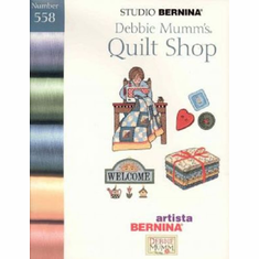 Studio Bernina Artista Debbie Mumm's Quilt Shop ~ Embroidery Card #558