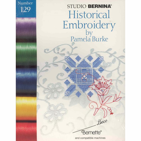 Studio Bernina Deco Historical Embroidery Designs by Pamela Burke Card #129