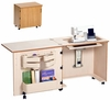 """Sylvia Compact Sewing Cabinet Model 810, Air-Lift, Large Opening (24.5"""" x 12"""")"""