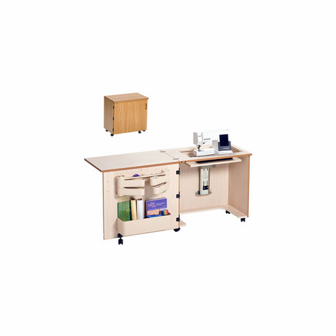 "Sylvia Compact Sewing Cabinet Model 810, Air-Lift, Large Opening (24.5"" x 12"")"
