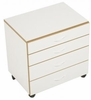 Sylvia Storage Unit 460, 4-drawer caddy Assembled, On Casters