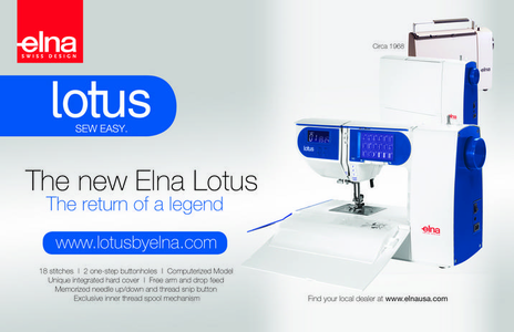 The Elna Lotus...The Legend Returns