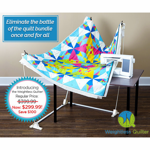 THE WEIGHTLESS QUILTER-FREE MOTION QUILTING ON ANY SEWING MACHINE
