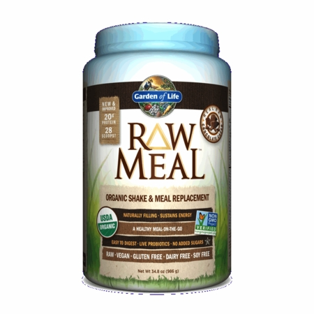 Raw Meal Chocolate   Garden Of Life   986g