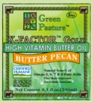X-FACTOR Gold High Vitamin Butter Oil | Green Pastue |  Butter Pecan