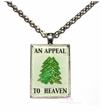 1776 An Appeal to Heaven Tree George Washington War Flag Necklace