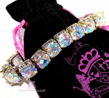 Aurora Borealis Two Tone Cubic Zirconia Throne Room Bracelet