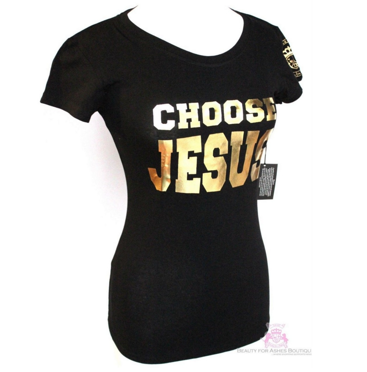 Beauty For Ashes Boutique Choose Jesus Be Saved Black Ss T Shirt