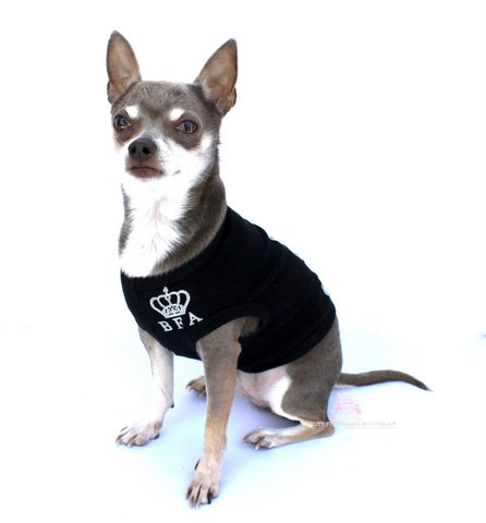 Black Dogwear Dog Tank Silver Glamour Glitter Bark for Jesus Top