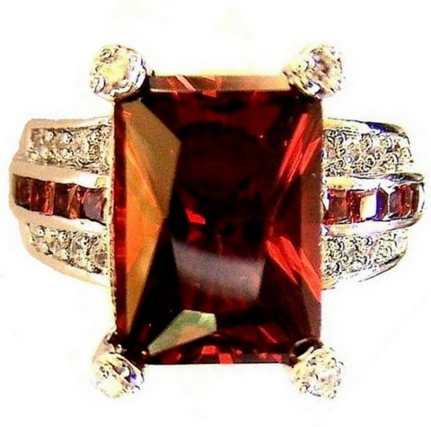 Blood of the Lamb Garnet Red Cubic Zirconia Ring