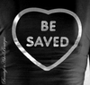 CHOOSE JESUS BE SAVED LONG SLEEVE BLACK T SHIRT SILVER PRINT