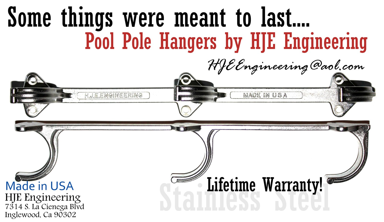 Commercial Pool Pole Hangers by HJE Enginerrings