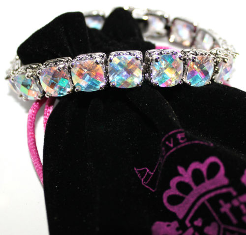 Throne Room Bracelet Aurora Borealis Cubic Zirconia Two Tone