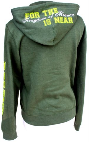 Green Lime Repent and Turn to God Matthew 2 Hoodie Jacket