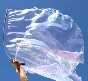 'Intimacy with God' Lavender Pearl Iridescent Worship Flag Set of 2 SuperFlex� Rods