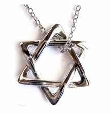 Israel Star of David 925 Sterling Silver Necklace