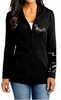 Ladies Yeshua 7 Candle Menorah Shofar Black Hoodie Jacket