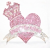 Love Beauty for Ashes Baby Crown Princess Pink Heart T-Shirt