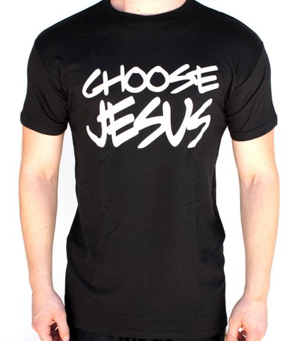 MENS CHOOSE JESUS BLACK SHORT SLEEVE CHRISTIAN T-SHIRT