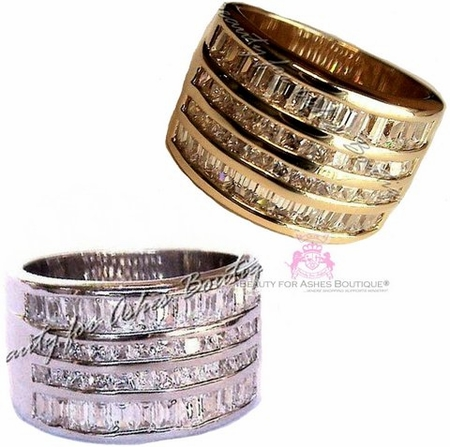 Miracles Ring Wide Clear Cz Womens Band