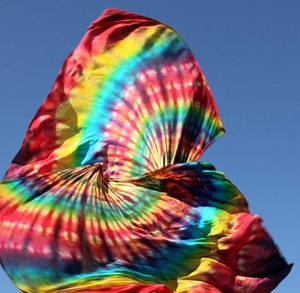 Praise Banner Worship Rainbow Tie Dye Swing Flags by Caleb Brundidge