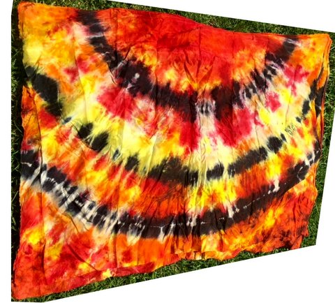 Praise Banner Worship Wild Fire Tie Dye Swing Flags by Caleb Brundidge