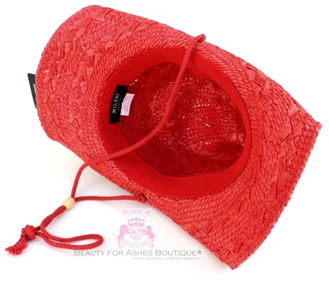 Red Clear Crystal Bling Cross Western Cowboy Cowgirl Hat