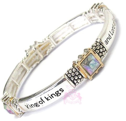 Revelation 19:16 King of Kings Ab Silver Stretch Bracelet
